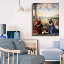 The Nativity by El Greco Famous Wall Art Poster Print Canvas Painting Calligraphy Decorative Picture for Living Room Home Decor the nativity