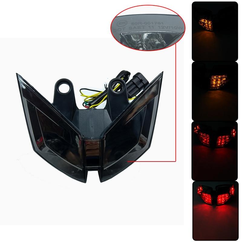 Avec e-mark pour MV Agusta F4 2010 2011 2012 2013 2014 Led feu arrière intégré clignotants lentille de fumée 100% tout neuf