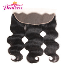Frontal-Closure Human-Hair Ear-Lace-Frontal Body-Wave Princess 13x4-Ear Peruvian Beautiful