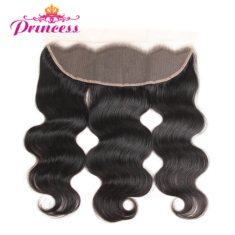 Beautiful Princess 13x4 Ear to Ear Lace Frontal Peruvian Body Wave Frontal Closure Natural Color Human Hair Non-remy Closure