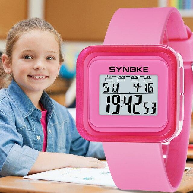 Vogue Fashion Boys Girls Children Student Watches Waterproof Sport Watch LED Digital Date Wristwatch Simple orologio donna A7020