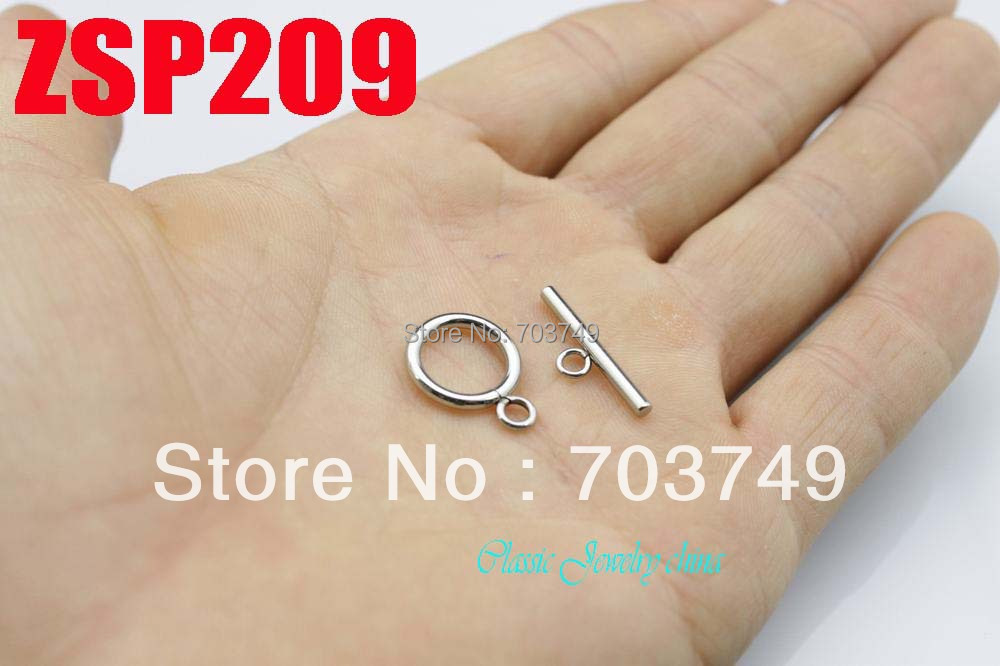 20mm small size stainless steel Toggle Bar Circle toggle clasps set jewelry connection necklace accessories 100