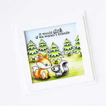 Eastshape Stamps Clear and/with Dies Forest Friends for Card Making Cutting Animal Scrapbooking Metal Fox Craft New
