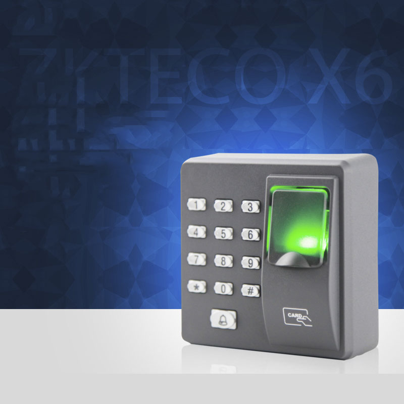 Biometric Fingerprint Access Control ZK Door Lock with Password ID Card Recognition Keypad Security Door Fingerprint Access