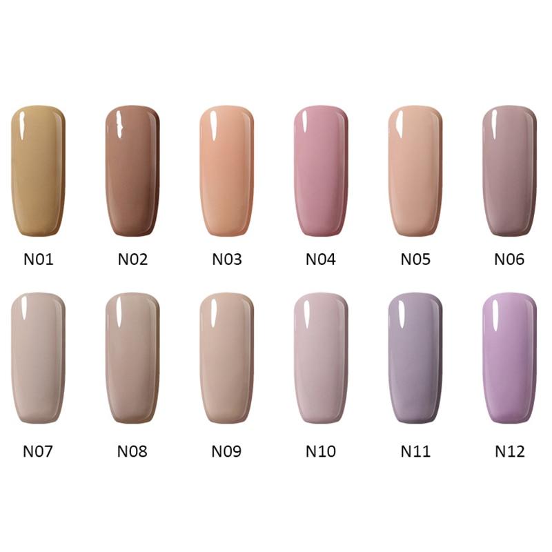 12stk / Lot 10ml UV Gel Nail Polish Colors Serie Soak Off LED - Negle kunst - Foto 3