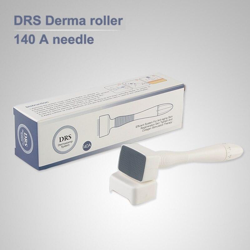 Adjustable Needle Length Micro Needle Stamp Skin Care 140 Stainless Steel Micro Needling Derma Meso Agulha Mento Mezoroller