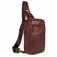 J.M.D Brand New Genuine Cow Leather Men's Chest Bag Mini Cross Body Bag Classic Chest Bag FoR Men 4002B-1