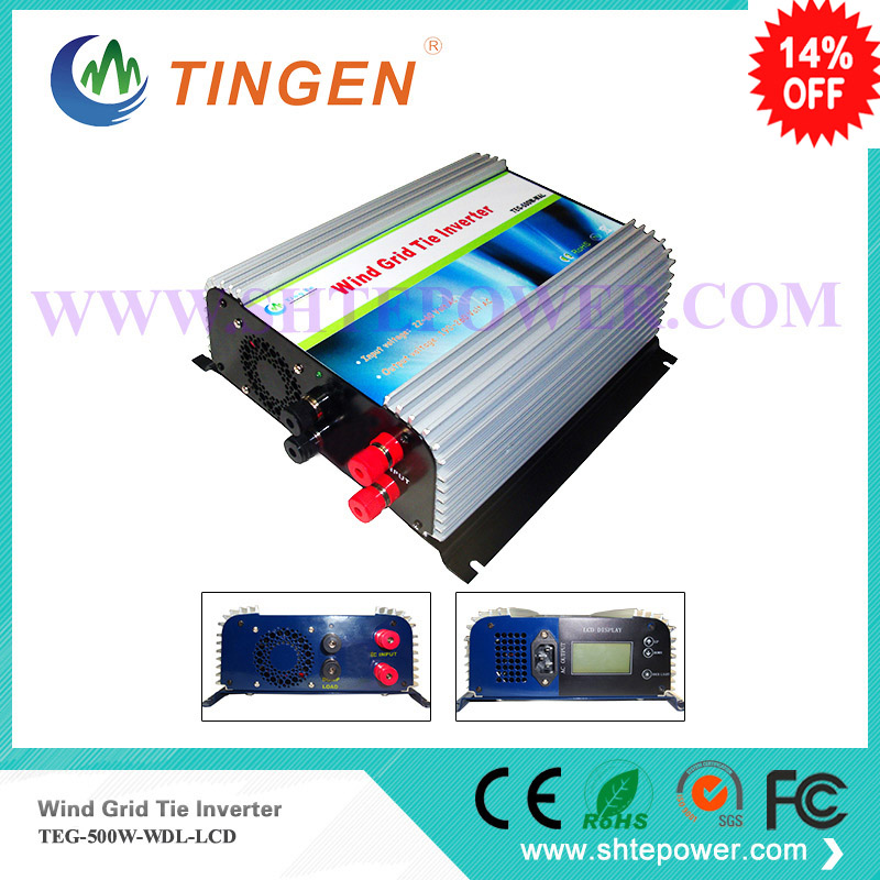 Mini power inverters 500w dc input 22-60v with dump load controller protection for windmill turbine generator dc to ac output solar power on grid tie mini 300w inverter with mppt funciton dc 10 8 30v input to ac output no extra shipping fee