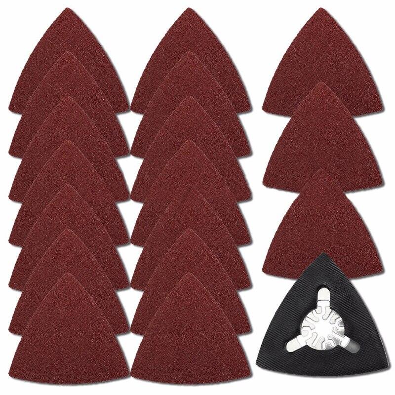 61pcs Delta Sanding Sheets Discs Paper For Fein Bosch 40/60/80/100/120/180 Grit