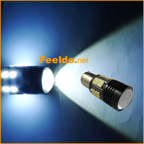 2Pcs Car White High Power BA15S/1156 12W 13-LED 12V LED Reverse Lamp Bulb Car Brake Backup Light #J-2965