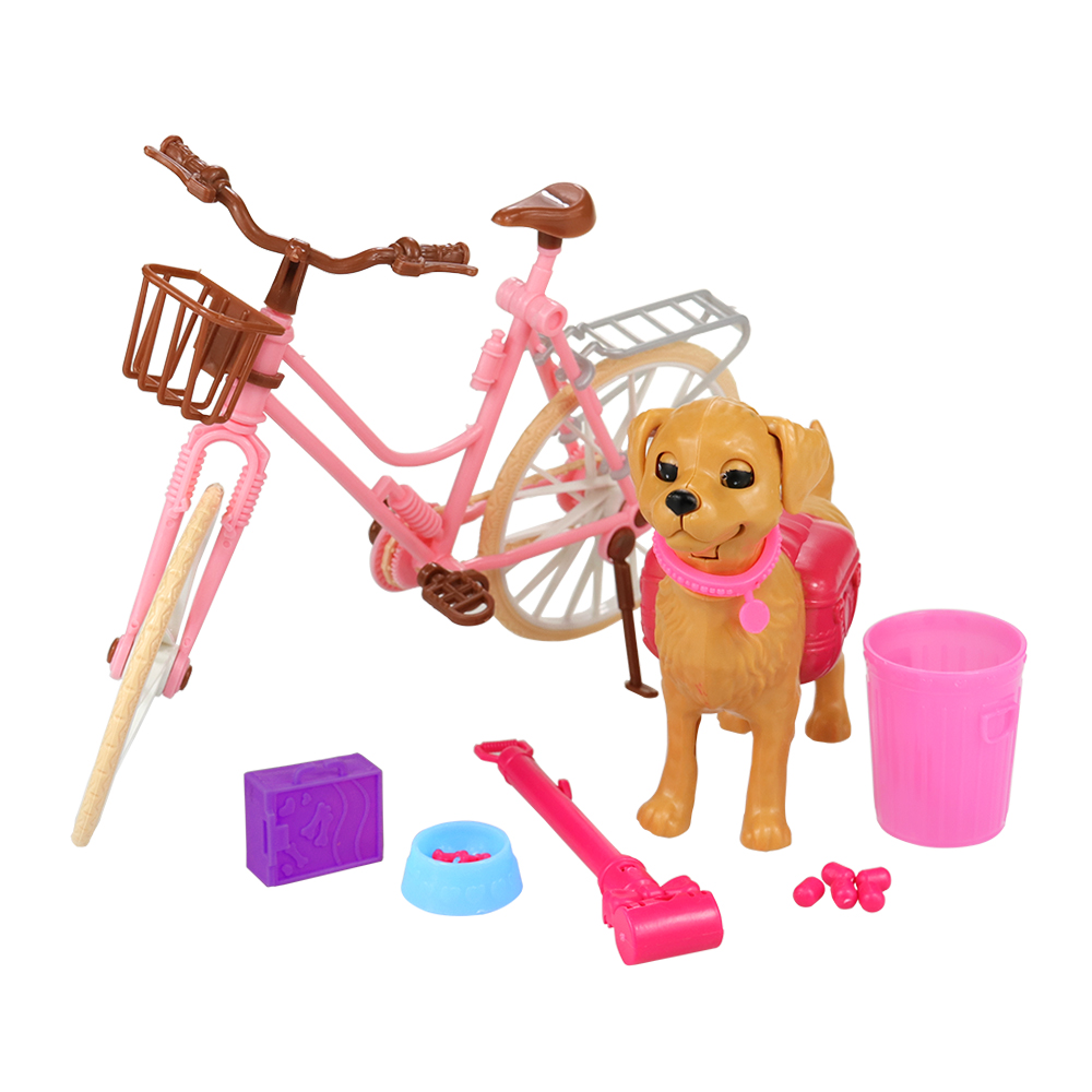 2019 Newest Cute Handmade Dog Toys 7 Items/Lot Doll Accessories Bike For Barbie Doll Best Birthday Christmas Best Gift For Girl