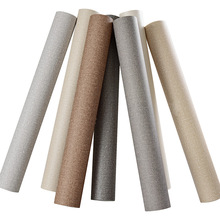 Modern Solid Color Wallpapers Waterproof Linen Textured Wall Paper Roll Grey Beige Yellow Khaki Wallpaper Vinyl Bedroom Walls