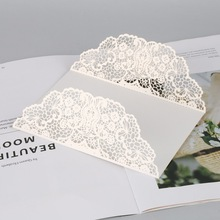 White 10pcs Vertical Laser Cut Butterfly Invitations Cards Kits for Wedding Bridal Shower Birthday Anniversary Party