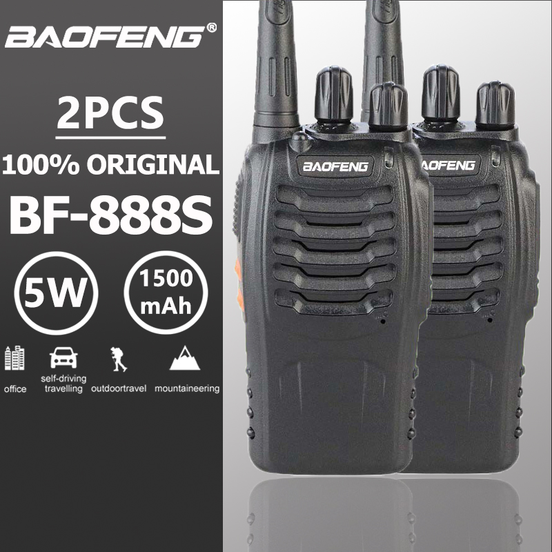 2 pcs Baofeng Bf-888s Talkie Walkie 5 W 16CH UHF 400-470 MHz Portable Radio BF888s Comunicador Émetteur Hf émetteur-récepteur BF 888 S