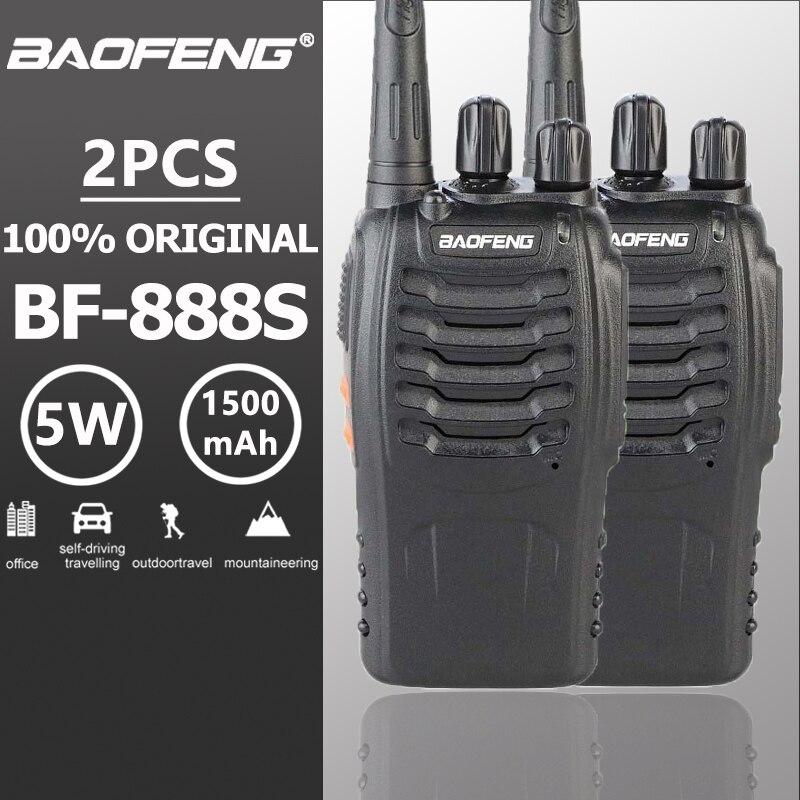 2 pcs Baofeng Bf-888s Walkie Talkie 5 W 16CH UHF 400-470 MHz Radio Portatile BF888s Comunicador Trasmettitore Hf ricetrasmettitore BF 888 S