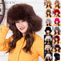 Daisy & Na Ladies Winter Spring Raccoon Fox Faux Fur Hat Russian Cap Ski Hat Earmuffs 078