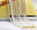 wholesale:500pcs 18inch 2.4mm silver plated metal ball chain