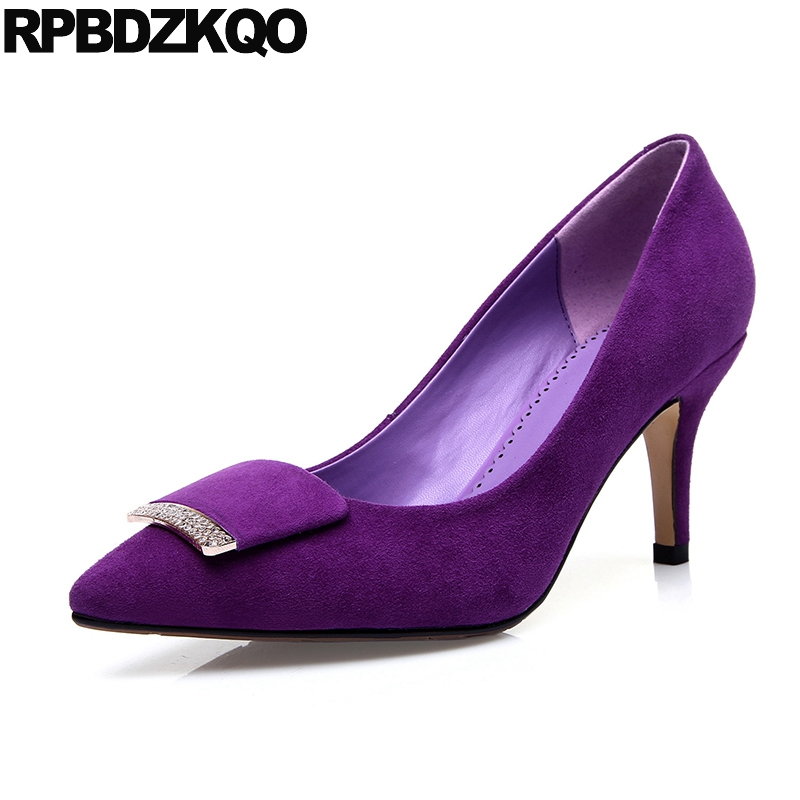 purple crystal shoes 3 inch 2019 women high heels pumps diamond quality lavender wedding pointed toe rhinestone suede thin blingpurple crystal shoes 3 inch 2019 women high heels pumps diamond quality lavender wedding pointed toe rhinestone suede thin bling