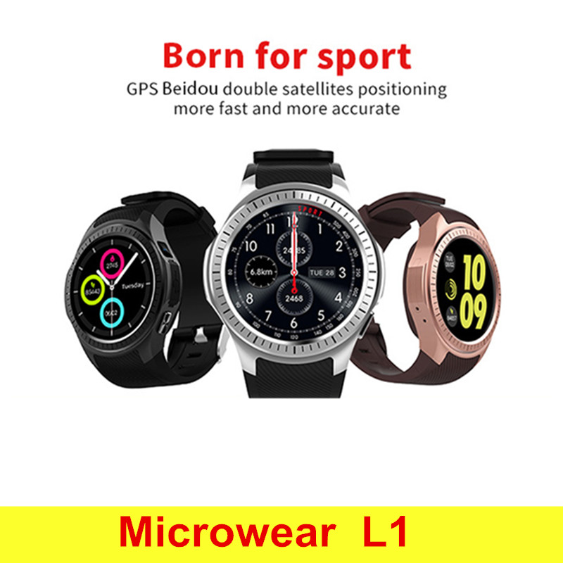 Microwear L1 Smartwatch Phone MTK2503 1.3 Inch Bluetooth Smart Watch GPS Heart Rate Measurement Pedometer Sleep Monitor microwear l1 smartwatch phone mtk2503 1 3 inch bluetooth smart watch gps heart rate measurement pedometer sleep monitor