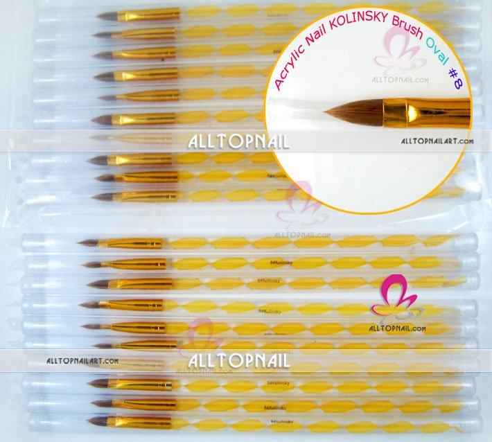 Акриловая кисть колонковая Кисть для ногтей художественная кисть 4#, 8#, 10# and12# размер- 30 шт./партия