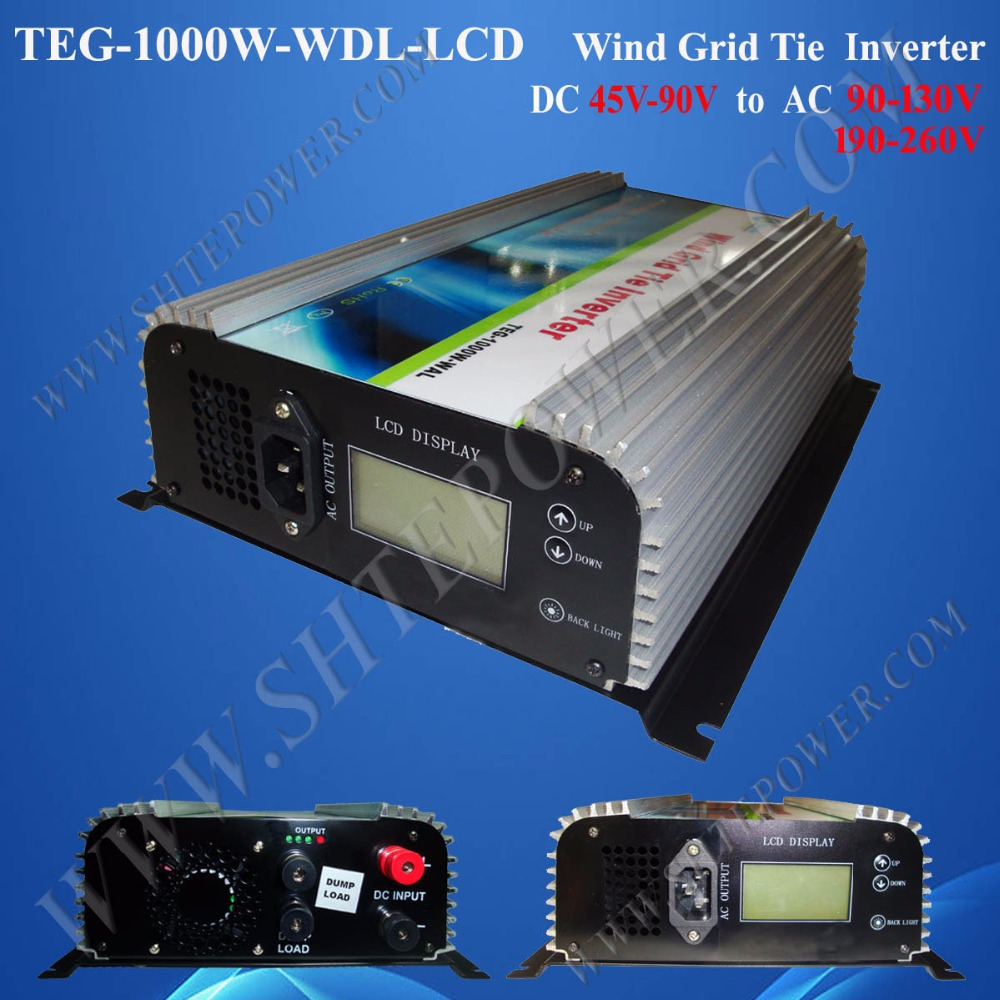 1000W wind turbine controller and inverter 1KW, grid tie inverter for wind turbine generator, dc 48v to ac 120v 2000w wind power grid tie inverter with limiter dump load controller resistor for 3 phase 48v wind turbine generator to ac 220v