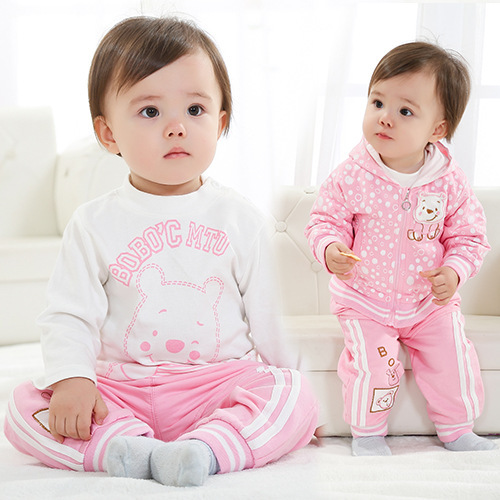 Anlencool 2017 Brand Male and female baby Sportswear  infants Valley wholesale children's clothing sportswear suit free shipping