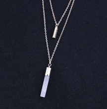 Handmade Crystal Column Necklace
