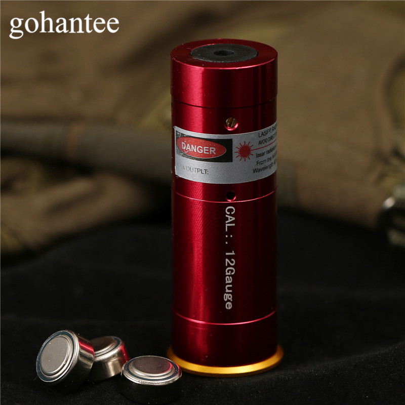 Jakt Laser Boresighter CAL:. 12Gauge Cartridge Red Dot Laser Borrning Sighting Boresighter 12GA Rifles / Gun / Pistol gohantee