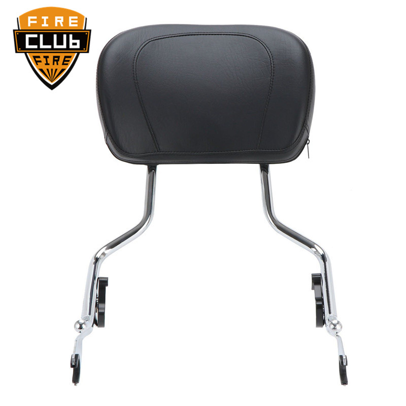 For Harley Touring Street Glide Road Glide 2009-2018 Black Sissy Bar Upright Passenger Backrest W/ Pad