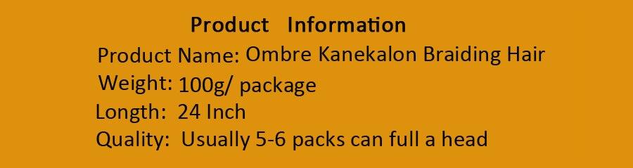 Aigemei Ombre Synthetic Kanekalon Braiding Hair For Crochet Braids False Hair Extensions African Ombre Jumbo Braids For Women Hair Braids Jumbo Braids