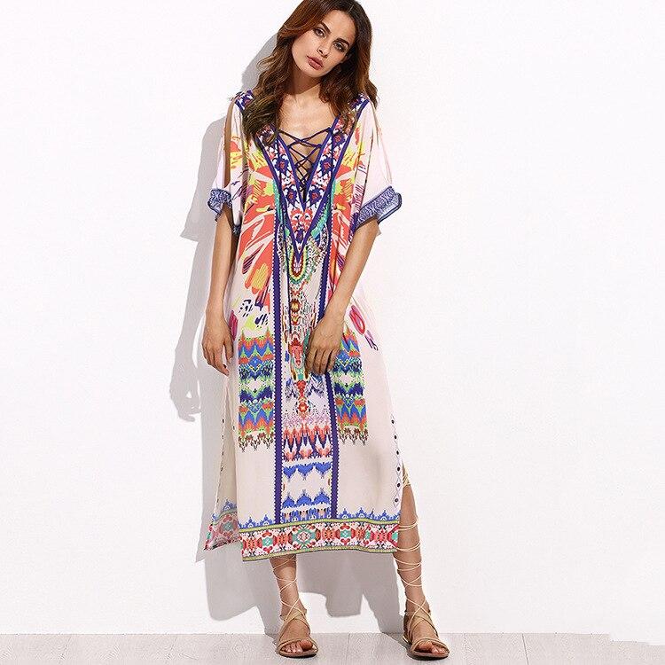 2018 Verano Vestidos Dámské české šaty s dlouhým rukávem Sexy - Dámské oblečení