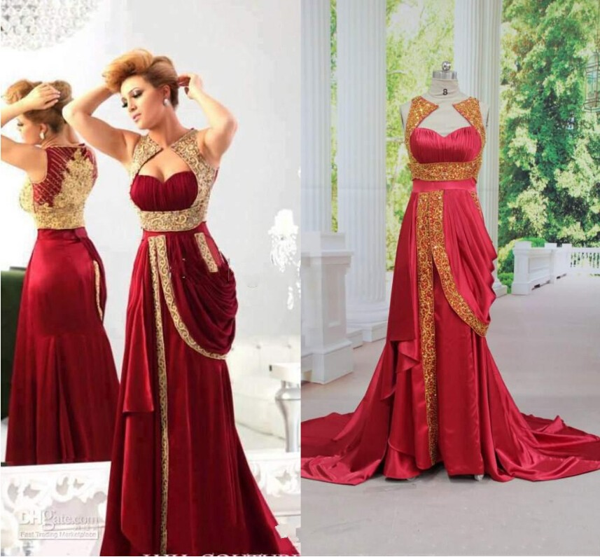 Aliexpress.com : Buy 2016 hot red gold appliques evening dresses ...