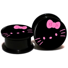 dee722c73 20pcs/lot Acrylic Hello Kitty Logo Ear Gauge Plugs And Tunnels Stretching  Expander 6mm-