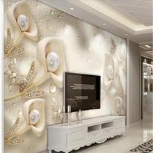 Custom wallpaper 3d calla butterfly silk water wave reflection TV background wall high-grade waterproof material butterfly water print waterproof wall tapestry