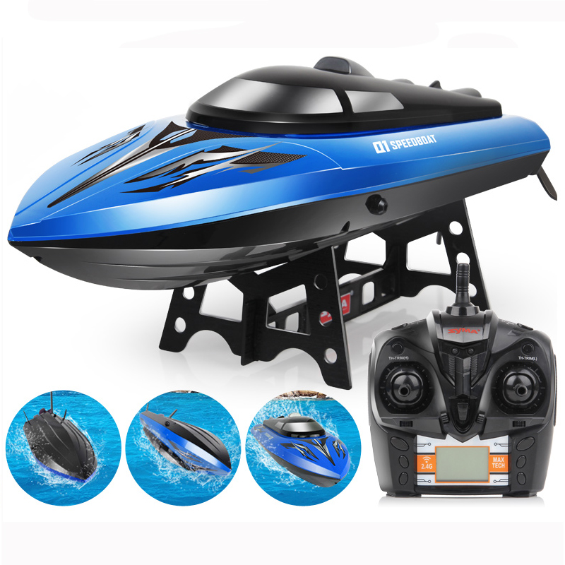RC Boat Q1 2.4GHZ 4 Channel High Speed 30Km/H Racing Remote Control Boat Speedboat For Children Toys Kids Birthday RC Toys Gifts high quality high speed rc boat 13000 6ch mini radio control simulation series rc nuclear racing submarine model kids best gifts