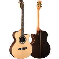 40 inch Guitar Spruce Rosewood Folk Guitar With Bag Tuner Free Shipping
