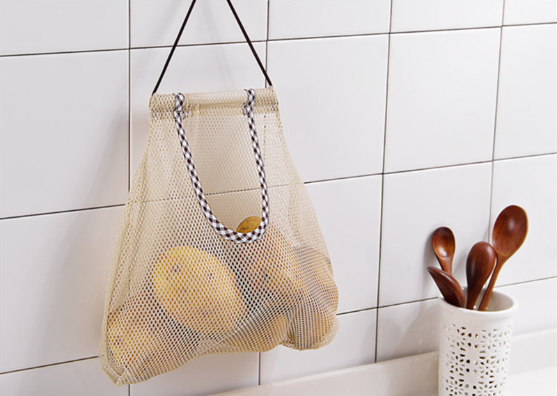 Resh Net Breathable Fruit Vegetable Garlic Onion Hanging Storage Kitchen Bag HK