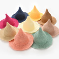 Children's summer straw hat little girl pointed cap peaked cap children visor
