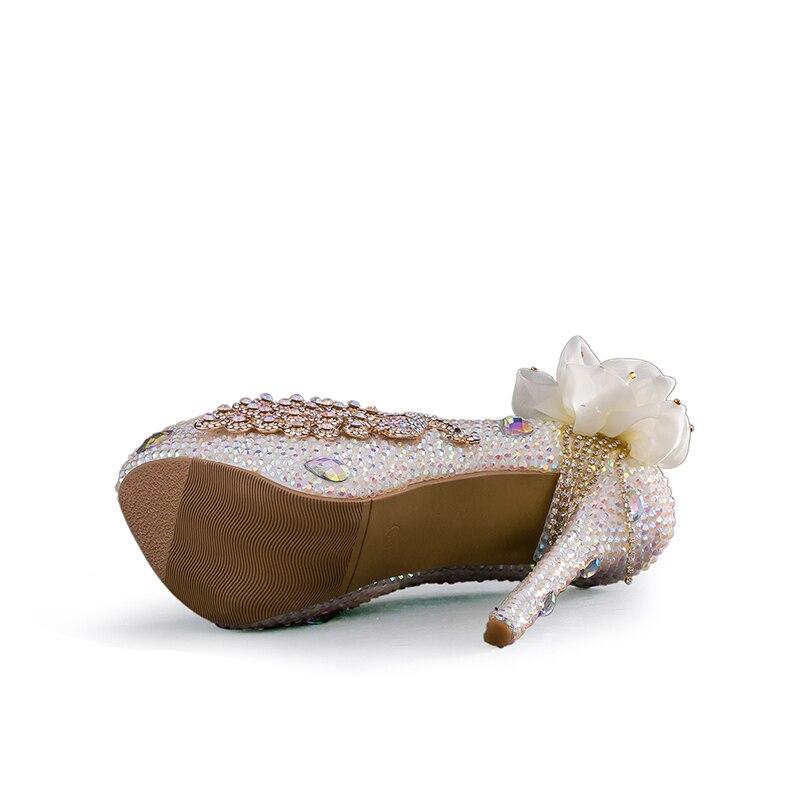 Noce Robe White Bal Glitter Haute Pompes De white Ab Mariée 14cm Phoenix Couleur Talon Heels 8cm Luxe Chaussures Heels Cendrillon Mariage Cristal 11cm agr7xqwaZ