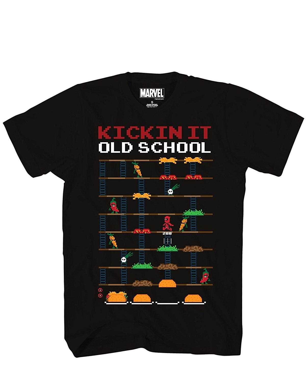 Shirt design video - 2017 New T Shirt Design T Shirt Men S High Quality Deadpool 8 Bit Video Game Kickin It Old School Taco Adult Mens T Shirt Black
