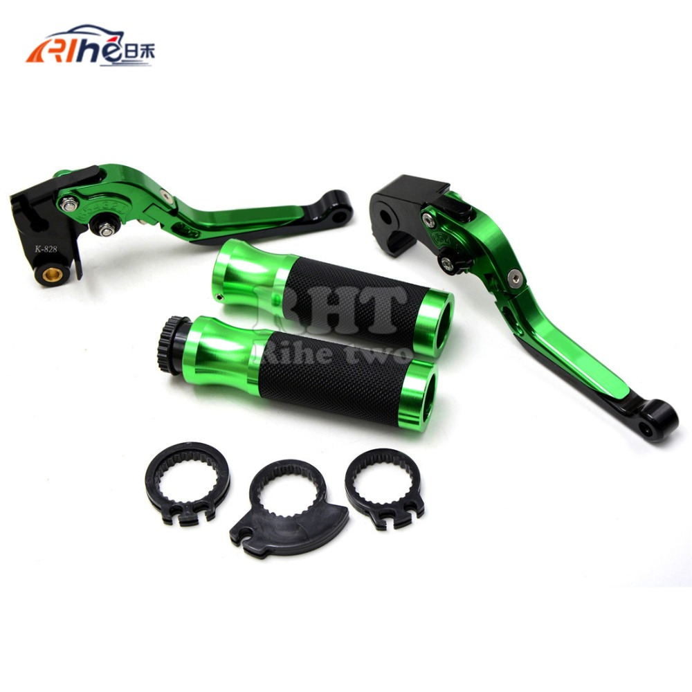 High Quality Motorbike CNC Adjust green  color Brake Clutch Lever  Handle bar for kawasaki z800 2013 2014 2015 z750 2007-2012 left clutch brake lever assy and front brake handle bar suit for cf650nk cfmoto parts code is a000 100200 a000 080113