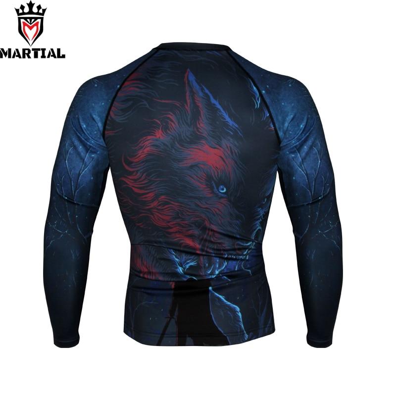 Martial :  Winter Is Coming Printed Full Sleeve Rashguards Fitness Mma Boxing Jersey  RASHGUARDS Running Shirt Men