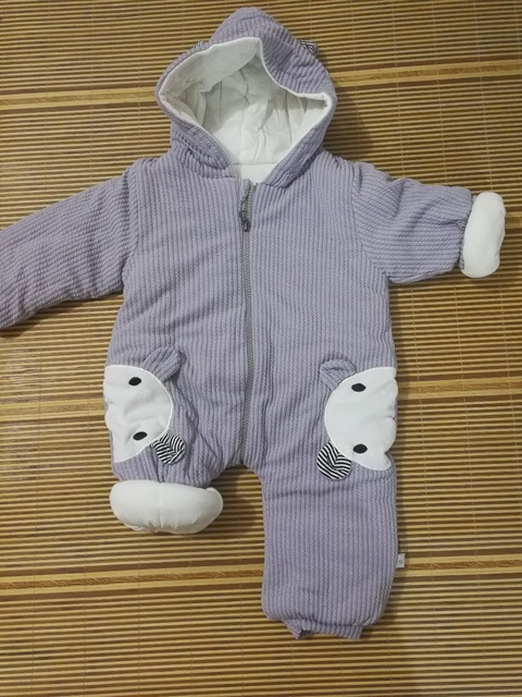 Hooded Winter Rompers for Babies with Bunny Ears