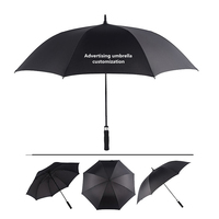 NX Professional Umbrella Custom 135cm Golf Umbrella Single Layer Strong Wind Umbrella