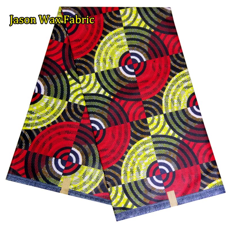 2017 African Wax Prints Fabric 6 Yards For Ankara Dress / 100%Cotton African Super Java Wax Fabric For Sewing LBL
