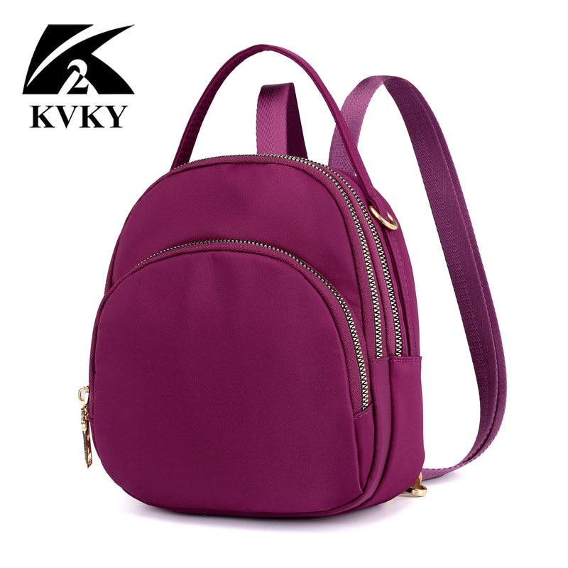 f2e7eb0fd5 Women Mini Backpack Purse Nylon Waterproof Small Backpack for Girls Multifunctional  Cross Body Bag 2018 Fashion