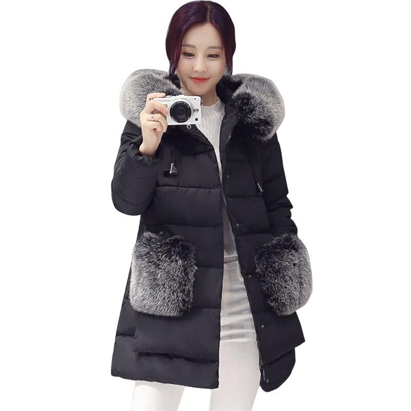 Kadınlar Kış Ceket Yastıklı Ceket Moda Kalın Sıcak Kapüşonlu Ceket Wadded Kadın Palto mujer abrigos invierno manteau femm CC03