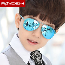 The new childrens Sunglasses polarizer reflective sunglasses and colorful boy child