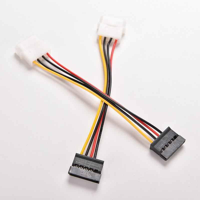 2 pces 4 pinos ide para 15 pinos sata ide para serial ata disco rígido sata cabo adaptador de alimentação