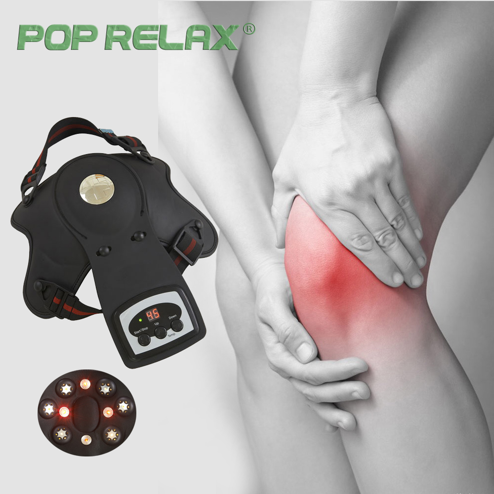 POP RELAX electric vibrating knee massager heating vibrator physiotherapy shoulder massager knee pain relief massage device pad pop relax electric vibrating massager vibrator red light heating therapy body relax handheld massage hammer device massager
